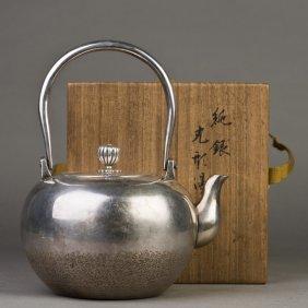 A Japanese Silver Teapot