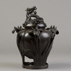 A Bronze Censer Of Dragon Motif