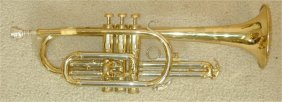 REYNOLDS BRASS TONE CORONET IN CASE