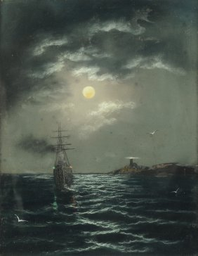 "British School (19th/20th Century) A Painting, ""ship At"