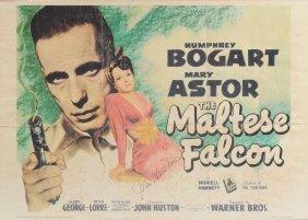 An Autographed John Huston Folded Color Half-sheet