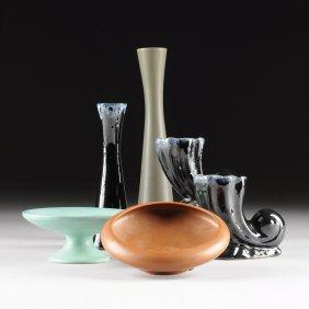 A Group Of Six Various Van Briggle Art Pottery Wares,