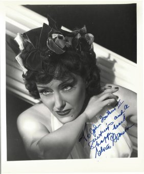 """A Gloria Swanson Autographed And Inscribed 8"""" X 10"""""""