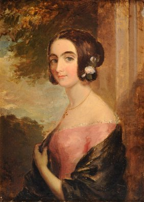 "British School (19th Century) A Painting, ""portrait Of"