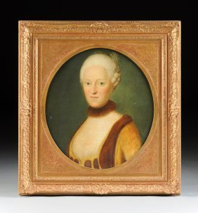 """Continental School (19th Century) A Painting """"portrait"""