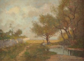 """Max Weyl (american 1837-1914) A Painting, """"pastoral"""