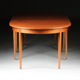 A Federal Style Tiger Maple Extension Dining Table,