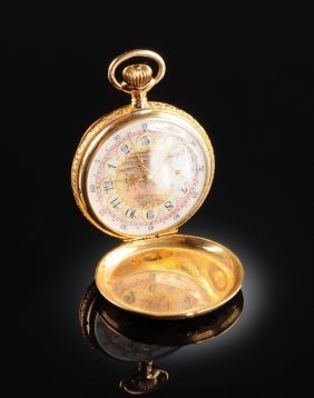 A 14k Yellow Gold Hunting Case Elgin Pocket Watch,