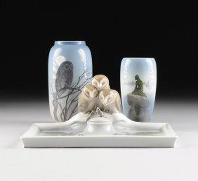 A Group Of Three Royal Copenhagen Porcelain Wares,
