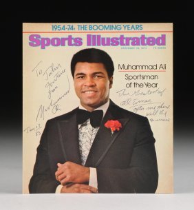 A Muhammad Ali Autographed And Inscribed Cover From
