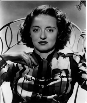 A Bette Davis Autographed And Inscribed Black And White