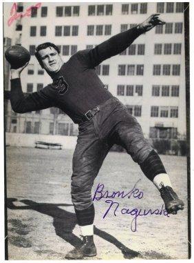 A Bronko Nagurski Autographed Black And White
