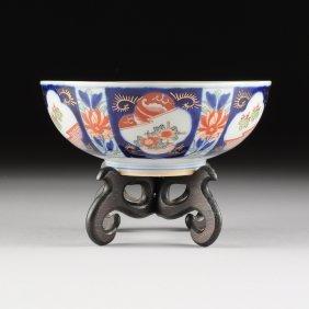 An Imari Polychrome Enameled Porcelain Fruit Bowl,