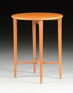 A Small Teak Collapsible Side Table, Modern,