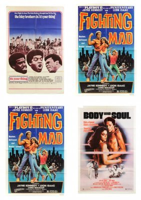 A Group Of Four Blaxploitation One-sheet Movie Posters,