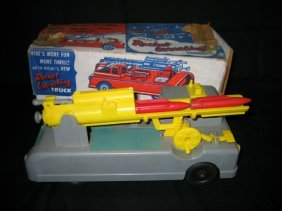 IDEAL'S ROCKET LAUNCHING TRUCK IN BOX