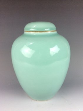 Fine Late Qing Period, Chinese Porcelain Pot With Lid,