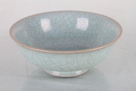 """[chinese]a Late 19th Century Guan Glazed Bowl W:5.25"""""""