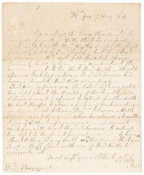 Robert E. Lee Autograph Letter, Civil War Dated