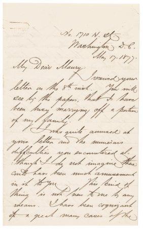 David Dixon Porter Autograph Letter Signed