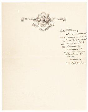 Rare John Philip Sousa Autograph Letter