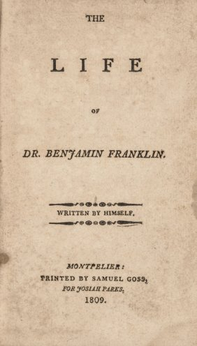 1809 Edition: The Life Of Dr. Benjamin Franklin