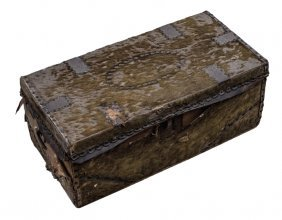 Revolutionary War Era Hide Covered Travel Chest