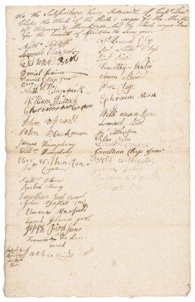 Revolutionary War Document Signed By Minutemen!