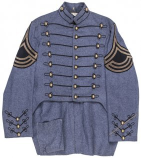 C 1860-70s Militia Tunic With Brass Buttons