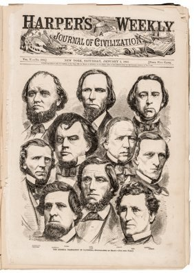 1860-1865 Civil War Years Run Of Harper's Weekly