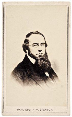 1860s Cdv Photograph Of Hon. Edwin M. Stanton