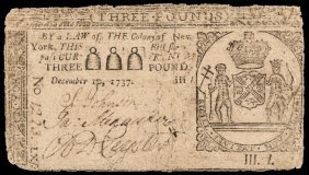Colonial Currency, Ny. 1737 By John Peter Zenger