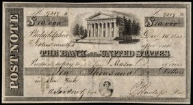 Obsolete, 3rd The Bank Of The Us Written $10,000