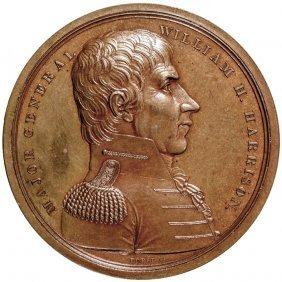 Gem 1818 Major Gen. William Henry Harrison Medal