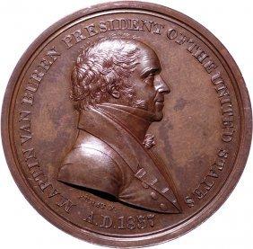 1837 Martin V Buren Indian Peace Medal Ngc Ms-65