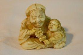 Antique Chinese Ivory Netsuke Meiji Period