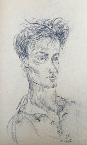 Oskar Kokoschka Drawing Austria Art