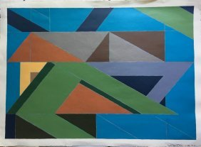 Signed Geometric Painting
