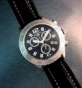 Justex Sportline Men's Chrono Watch, Swiss Made