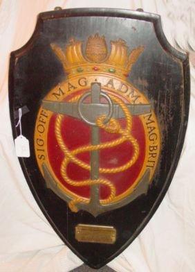 English Metal Nautical Shield Plaque