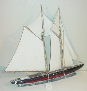 2 Masted Ship Weathervane