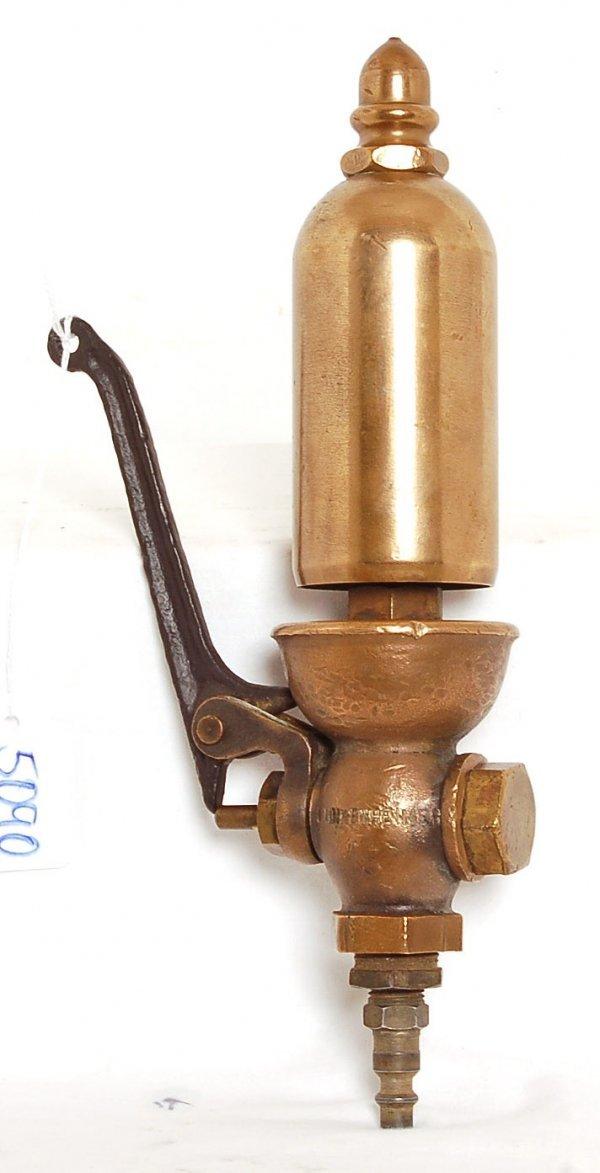 5090: Lunkenheimer brass steam train whistle : Lot 5090