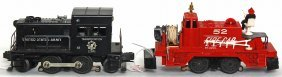Lionel 52 Motorized Fire, 41 US Army Switcher