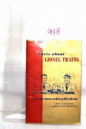 Tough Lionel 1950 Gold Cover Facts About LIONEL