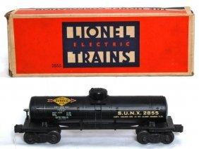 Lionel 2855 Black Sunoco Tank Car, OB