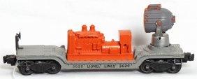 Lionel 3620 Searchlight Car W/orange Hood