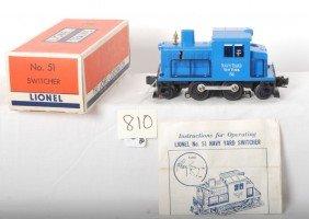 Lionel 51 Navy Industrial Diesel Switcher In OB W/