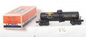 Lionel 2855 Sunoco Tank Car In OB W/insert