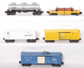 Lionel X6014, 6656, 6415, 3424, Log/pipe Car