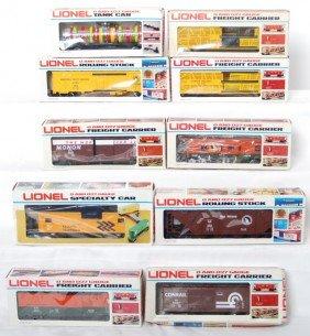 10 Lionel Freight Cars 9278, 6102, 9449, 6438, Etc